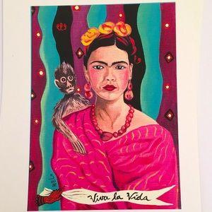 print Frida Kahlo portrait by cris melo